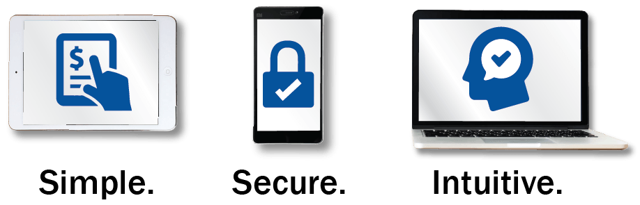 simple secure and intuitive icons