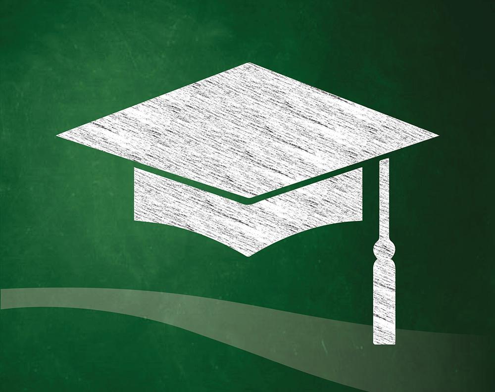 Chalkboard Grad hat