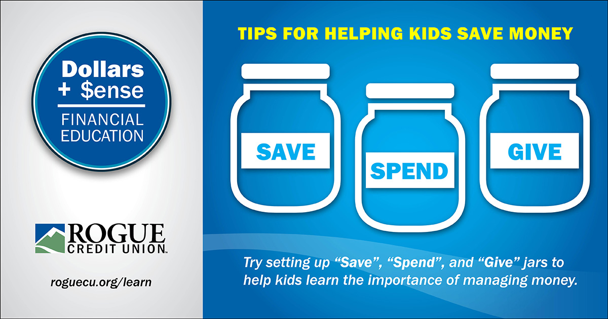 Use save, spend, give jars to teach kids about money.