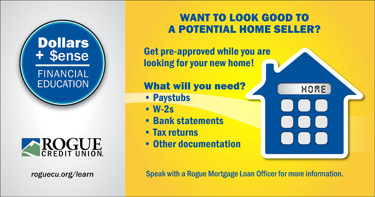 Look good to a potential home seller by getting pre-approved.