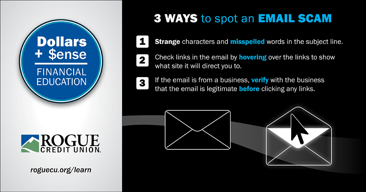 3 ways to spot an email scam