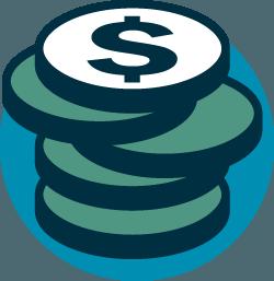 colored coin icon