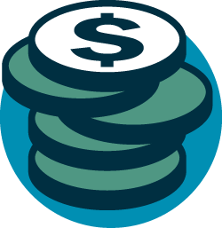 colored coin icon