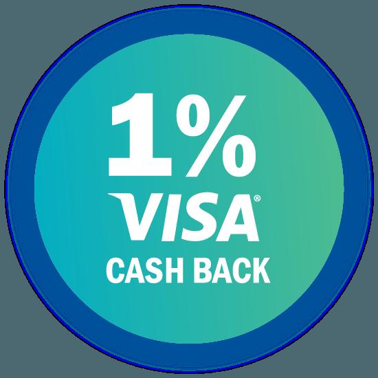 1 percent visa cash back