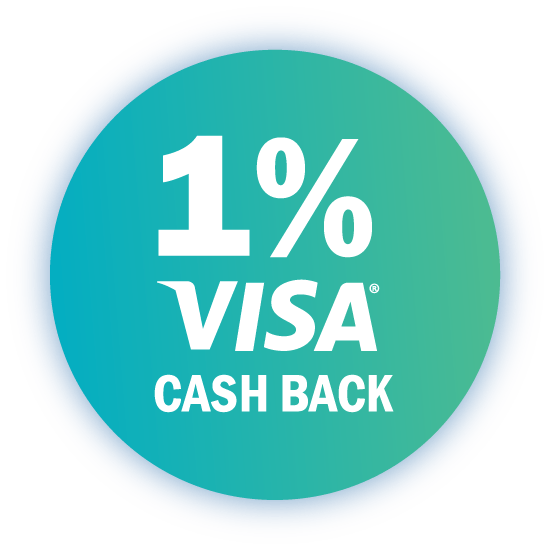 1 percent visa cash back