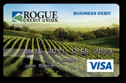Rogue Business visa, vineyard card design