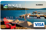 classic credit card lake of the woods design with red chair