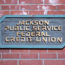 jackson public service credit union sign