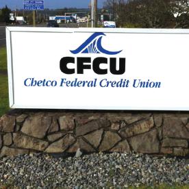 chetco federal credit union sign