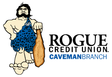 caveman rogue student branch logo