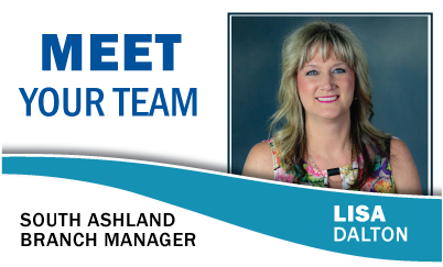 Meet Your Team: Lisa Dalton South Ashland Branch Manager