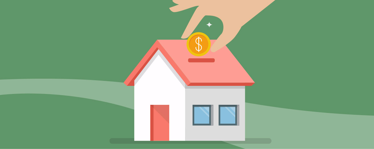 saving for a home graphic